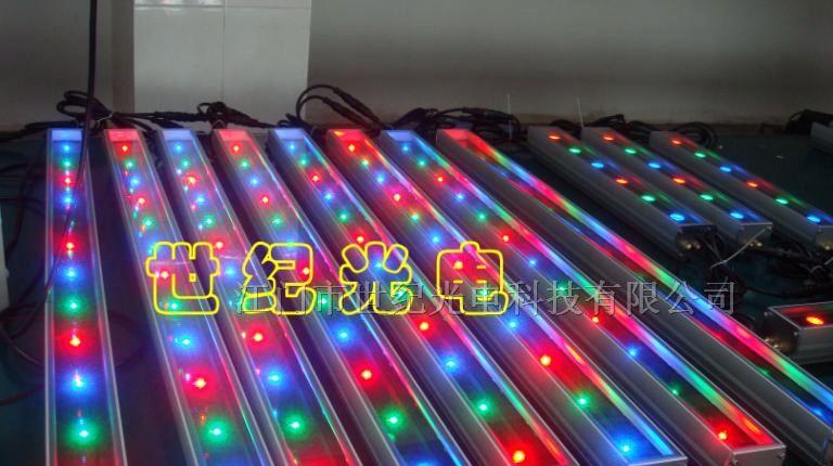 供应大功率LED照明 数码LED洗墙灯 七彩超薄洗墙灯