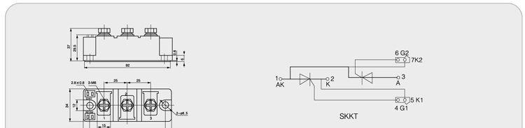 信息内容: 品牌:LDG 立得 型号:SKKT-132 控制方式:双向 极数:二极 封装材料:树脂封装 封装外形:平板形 关断速度:普通 散热功能:带散热片 功率特性:中功率 频率特性:高频 额定正向平均电流:40(A) 控制极触发电压:1600(V) 控制极触发电流:≤5(mA) 正向重复峰值电压:400(V) 反向阻断峰值电压:2500(V) 普通晶闸管模块(SKKT)dzsc/17/2940/17294064.