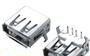 厂家供应USB插座USB母座USB接口USB-AF90°无后盖usb连接器