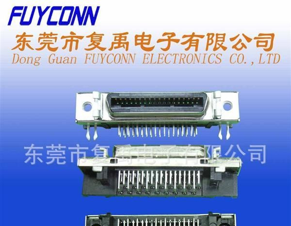 供应SCSI-90度36母板端连接器