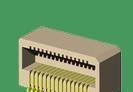 供应0.8间距90度40P侧插板对板连接器-山谷道电子