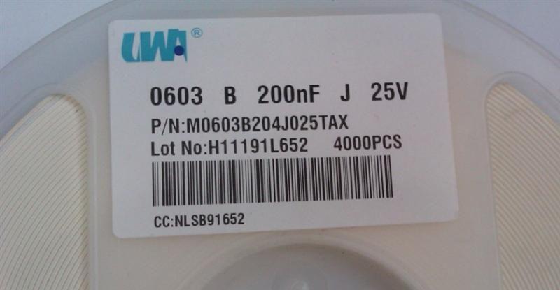 供应UTC贴片高压电容M0603B204J025TAX