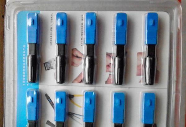 FTTH预埋式 SC快速连接器 光纤冷接子 皮线快速连接器 电信级