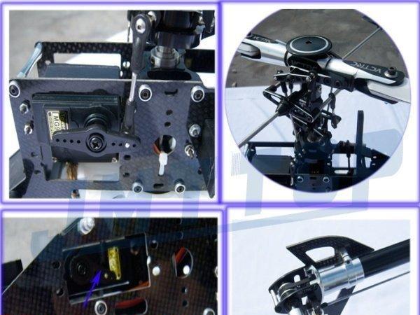 500e pro美式头有副翼皮带传动直升机散件全套含b6充电器f02121-c