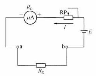 指针式万用表中电阻测量电路
