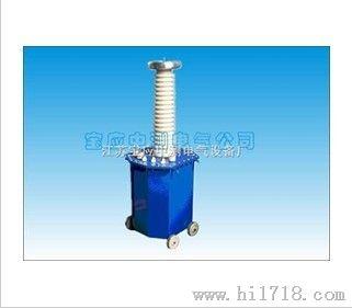 电容分压器——测量被试品上的