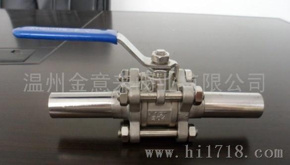 三片式不锈钢焊接球阀(q61f)图片