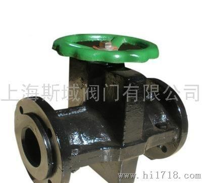 上海莱菲特gj41x常闭型气动管夹阀