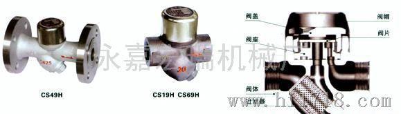 cs49h圆盘式法兰蒸汽疏水阀图片