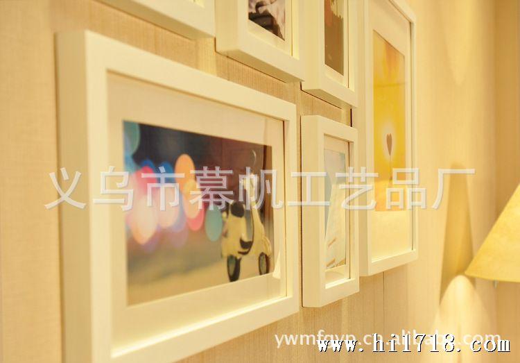 【照片墙安装模板图纸】k0601简约6框照片相框像架墙