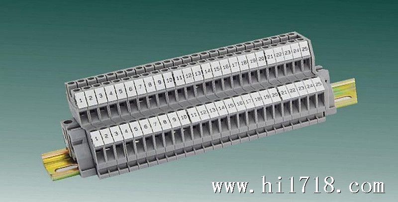 双层接线端子排基本结构:端子