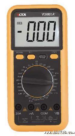 数字万用表vc9801a+ 型号