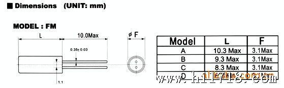 声表晶振 石英晶体谐振器 声表晶振厂家 声表晶振参数: 频率范围.