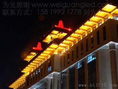 牌坊照明led投光灯,屋檐之下泛光专用led灯具