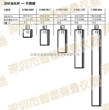 雷尼绍m4不锈钢测针加长杆M-5000-7584雷尼绍m4不锈钢加长杆批发