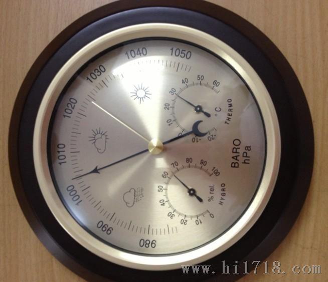 供180mm气压表晴雨表金属盒气压计家庭气象站三合一图片