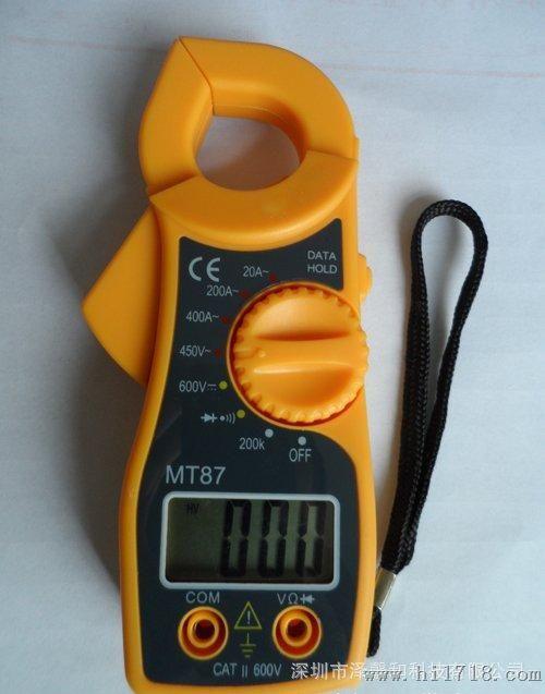 mt87数字钳形万用表 钳形电流表 便携式带蜂鸣 钳形表