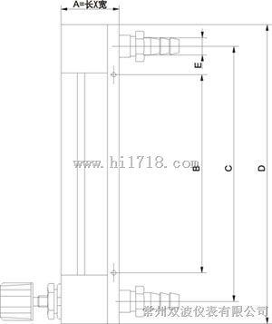 结构示意图dn3-10带调节阀流量计dn3-10不带调节阀流量