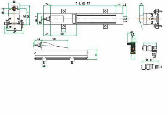 如:大型注塑机合模行程,橡胶机合模行程,木工机械,液压机械.