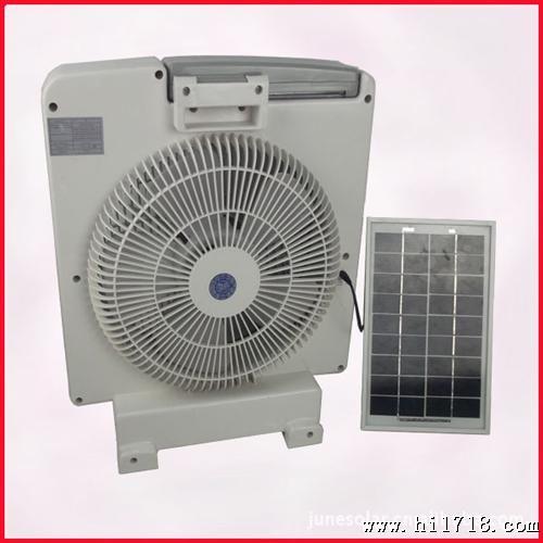 带太阳能板的充电 风扇 充电 电池风扇 蓄电池充图片