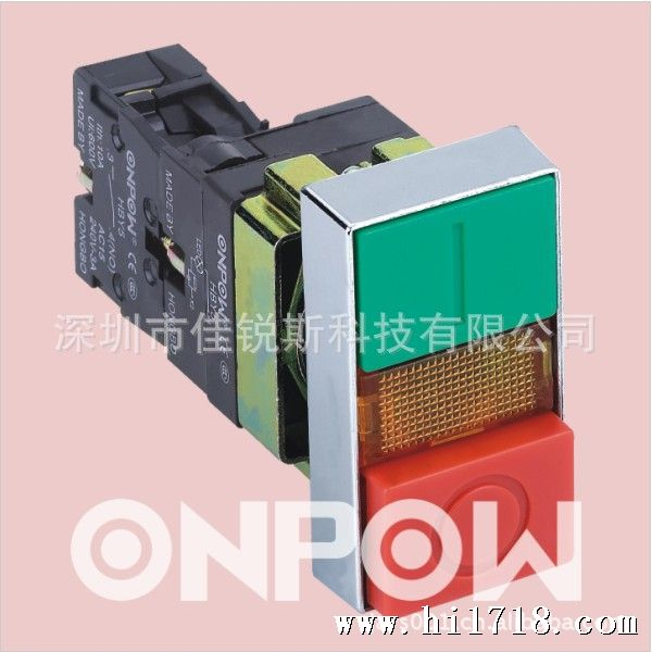 16mm/浙江红波/las2gqc-11/圆形自复钮/不锈钢/金属