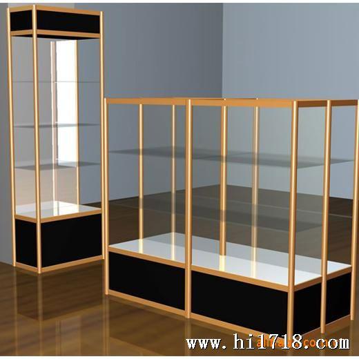 精品木质展示柜 钛合金展柜 烤漆展柜 上门设计安装
