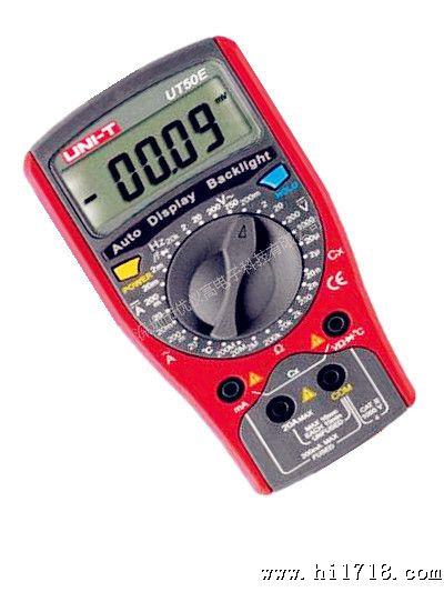 【】优利德ut50e数字万用表电流电阻电容频率温度测试
