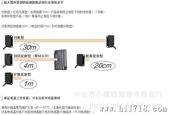 特价欧姆龙e3z-t66-d e3z-t66-l 对射光电传感器