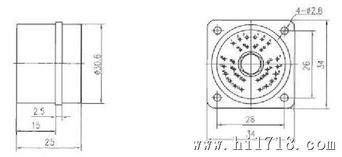 """操作方法 1.连接器的连接采用直插方式。连接时,拿起插头将红色对接标记对准插座上的标记,将插头机构中心对准插座的锁套中心孔,然后把插头用力插入插座,听到""""嗒""""一声响声,表示插头与插座已锁合。 2.插头与插座的分离有机械分离和电磁分离两种。电磁分离时,在先报引出线施加DC28±3V的电压,插头、插座能立即分离。机械分离时,沿拉杆轴线方向施加大小为30N~70N的机械力,插头、插座即能分离。 型号规格 目前已有规格品种如下:YF17-30TJ、YF17-30ZK。"""