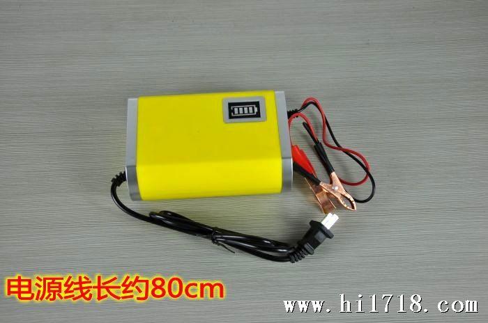 12v6a汽车充电器 摩托车电瓶充电机智能电子脉冲蓄33