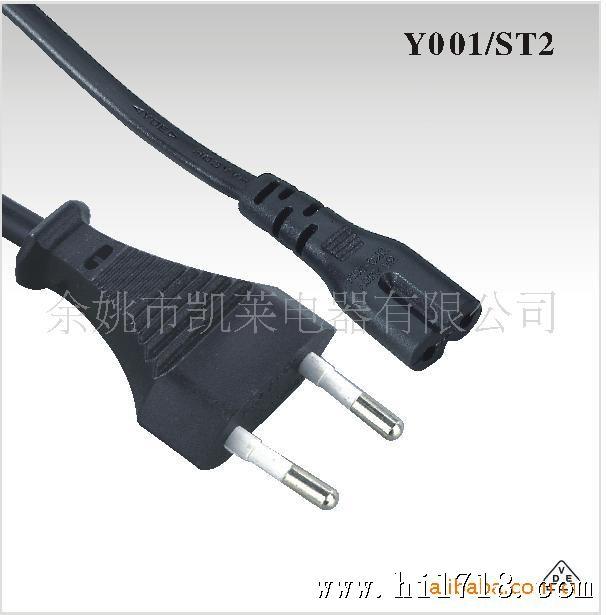 低价供应宁波乔普欧洲电源插头/欧式二极插头/八字尾