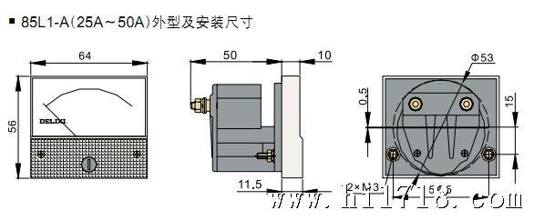 供应 电压电流表85l1系列电压测量仪表