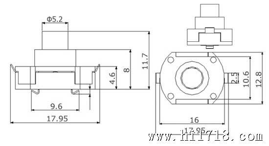 050 新型led手电筒按压式开关 [摘要] 本实用新型涉及手电筒开关