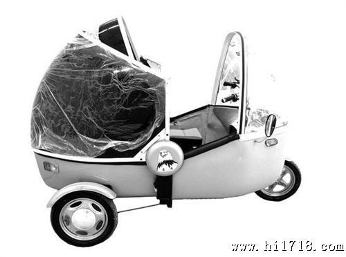 启迪小水滴电动三轮车老年代步车全封闭三轮电动车老年休高清图片