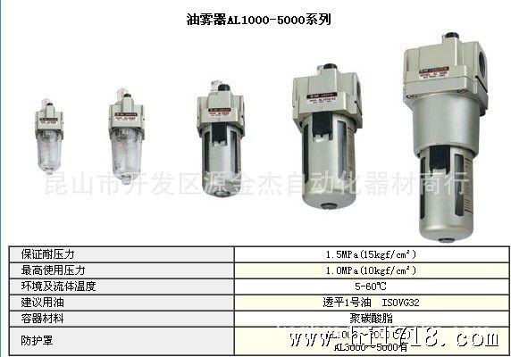 三点组合 空气过滤器 气源处理器  结构:aw5000-06d al5000-06 &nbsp