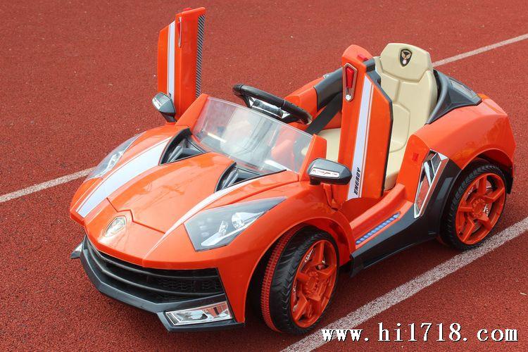 新款兰博基尼双开门电动童车电瓶车可坐儿童遥控电动