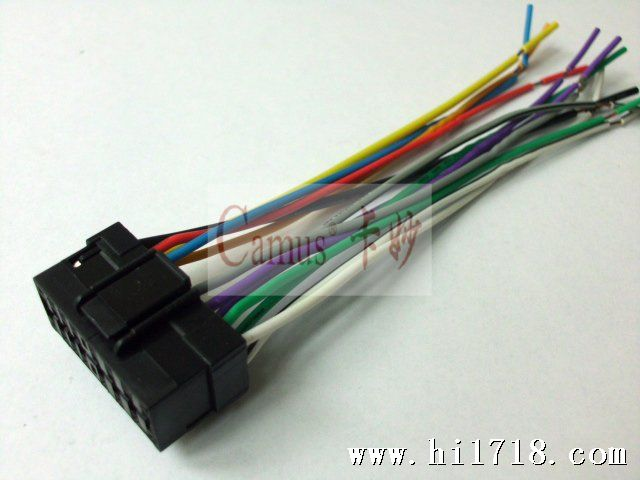 现货供应索尼sony/jvc汽车音响16p连接线