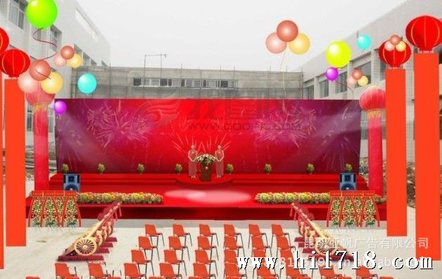 展览搭建工厂酒店会堂室外会议展台背景架背景板设计