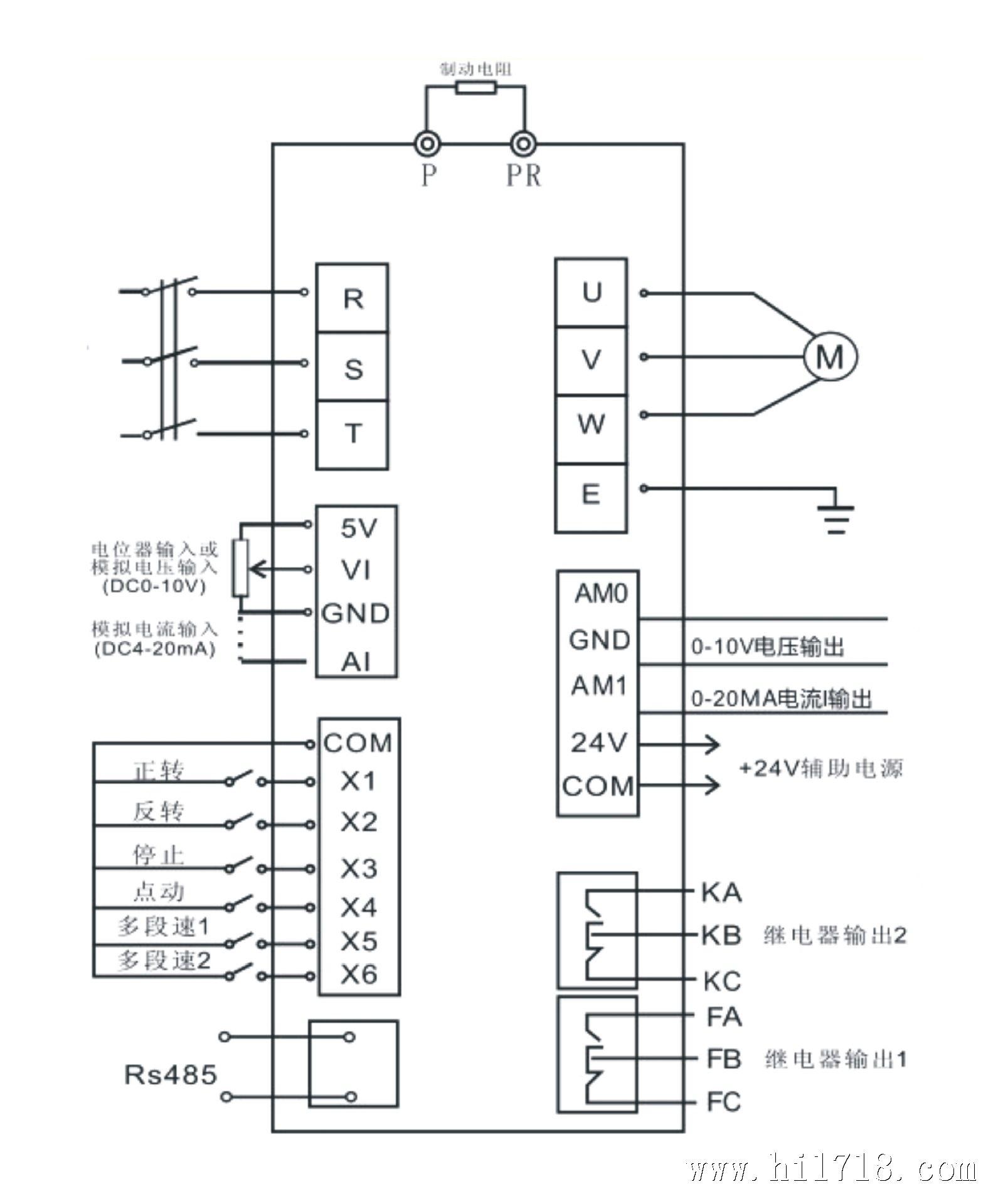 哈雷矢量变频控制器接线图