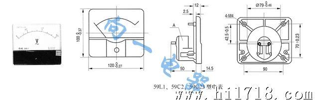 59l1-a 指针式交流电流测量仪器仪表/板表 交流电流表